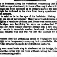 Swing bridge not so bad, opinion (Tonawanda News, 1985-08-16).jpg