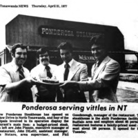 Ponderosa serving vittles, photo article (Tonawanda News, 1977-03-21).jpg
