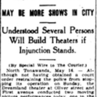 No police action to halt Dreamland or Oliver Theater, article (Buffalo Courier, 1915-05-17).jpg