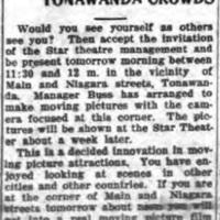 Moving Pictures of Tonawanda Crowds, article (Tonawanda News 1912-07-05).jpg