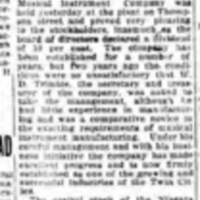 Dividend of 10 Per Cent, Niagara Musical Instrument Mfg. Co. (Tonawanda News, 1914-01-14).jpg