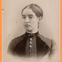 Portrait of a young woman, Torreys Photographic Rooms, cabinet card (c1880).jpg