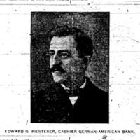 Edward G Reisterer, Cashier German-American Banl, photo (1893-08-05 Tonawanda News).jpg