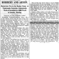 Robbery and arson at the Backer House, article (Buffalo News, 1896-11-30).jpg