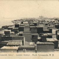 Tonawanda Island - Lumber District, photo postcard.jpg