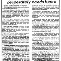 Family facing eviction deperately needs home, article (Tonawanda News, 1978-08-05).jpg