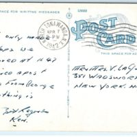 North Tonawanda Post Office, postcard (1942-04-07)  back.jpg