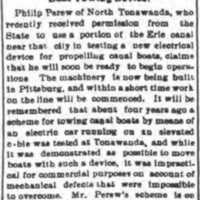 Philip Perew's scheme, article (Tonawanda News, 1900-02-02).jpg