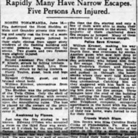 Jump from Windows as N. Tonawanda Hotel Burns, Sheldon, article (Buffalo News, 1915-06-06).jpg