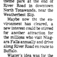 Carousel theme park was proposed for Weatherbest, article excerpt (Courier-Express, 1979-03-11).jpg