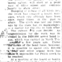 Pettit Creek culvert asked, article (Tonawanda News, c1925).jpg