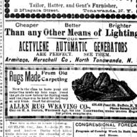 Armitage Herschell, Acetylene Automatic Generators, ad (Tonawanda News, 1900-01).jpg