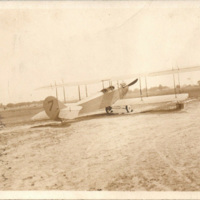 Biplane at Curtiss Aerodrome, Tonawanda, postcard (1917-08-20).jpg