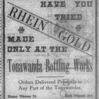 Tonawanda Bottling Works, illustrated ad (Ton News, 1905-05-08).jpg