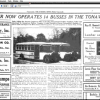 Carpenter now operates 14 busses in the Tonawandas, trolleys fade, article photo (Tonawanda News, 1928-06-21).jpg