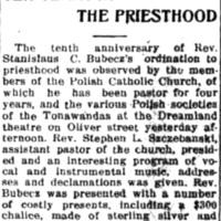 Ten years in the priesthood, music and ceremony at Dreamlandm article (Tonawanda News, 1915-06-07).jpg