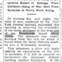 Day and Night Shifts on Job, repairs to island bridge, article (Tonawanda News, 1912-11-02).jpg
