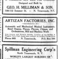 Artizan, Spillman, and Milliman, ads (Tonawanda News, 1928-11-11).jpg