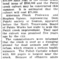 Pettit Creek to be covered soon, article (Tonawanda News, 1925-02-24).jpg