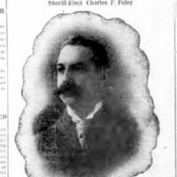 Sheriff-Elect Charles F. Foley, article with portrait photo (Tonawanda News, 1908-11-18).jpg