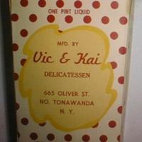 Vic and Kai Delicatessen, 665 Oliver, ice cream box (c1950).jpg