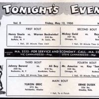 Four Corner Wrestling Club, program, reverse (1950-05-12).jpg