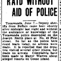1925-06-08 Sheriff Makes Raid without Aid of Police, Klan Burns Cross on Ward, article (Buffalo Express).jpg