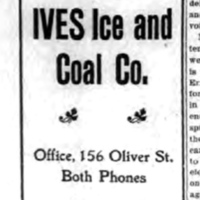 Ives Ice and Coal Co., 156 Oliver, ad (Tonawanda News, 1908-03-30).jpg