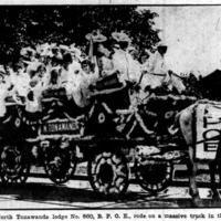 Elks Lodge 860 ladies on truck in Niagara Falls parade, photo (Buffalo Courier, 1914-06-21).jpg