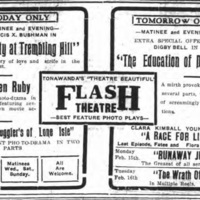 Flash Theatre, ad (Tonawanda News, 1915-02-13).jpg