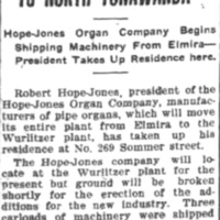 Removing business to North Tonawanda, Robert Hope-Jones, 269 Sommer, article (Tonawanda News, 1910-06-01).jpg