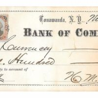 Bank of Commerce, Tonawanda, H. M. Stocum, bank note (1874-11-07).jpg