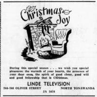 Linde Television, 244-246 Oliver, ad (1954-12-24).jpg