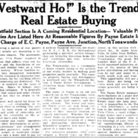 Wheatfield section is a coming residential location, Payne, article (Tonawanda News, 1924-10-14).jpg