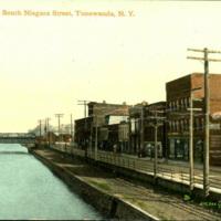 Erie Canal and South Niagara Street, postcard (c.1905).jpg