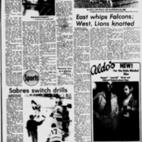 Sabres switch drills, article (Tonawanda News, 1976-09-29).pdf