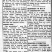 Jacobs Orchard platted, prompts Black Hannah recollections, article (Tonawanda News, 1935-05-05).png