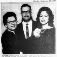 Colonel Payne Principal Leverenz and wife, photo article (1961-09-25, Tonawanda News).jpg