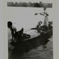 Teens in Wood Hull Motor Boat Erie Barge Canal, Tonawanda, photo (1931).jpg
